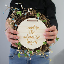 '...and so the adventure begins' Pregnancy Plaque