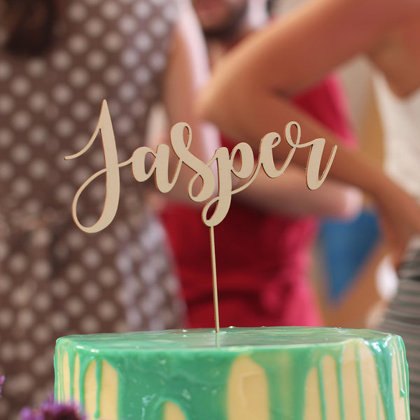 Beautiful laser cut poplar plywood cake topper. A perfect gift that can be personalised.