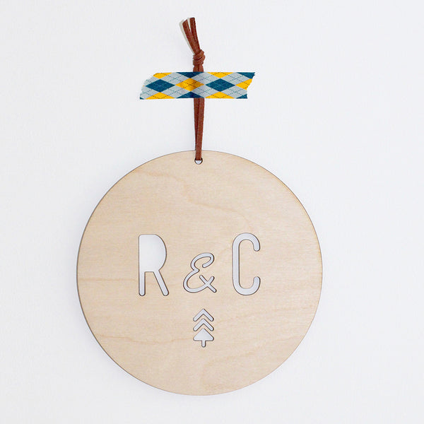 Christmas Initials Plaque