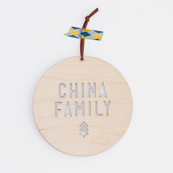 Christmas Family Plaque