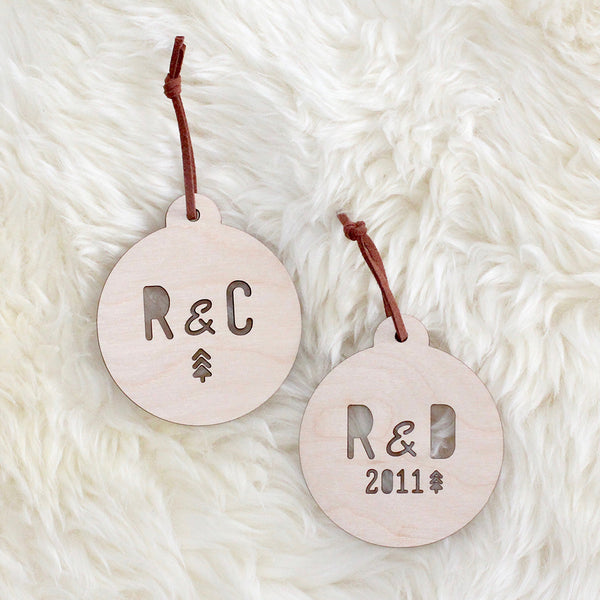 Christmas Initials Bauble