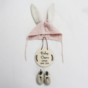 'Coming...' Personalised Pregnancy Plaque