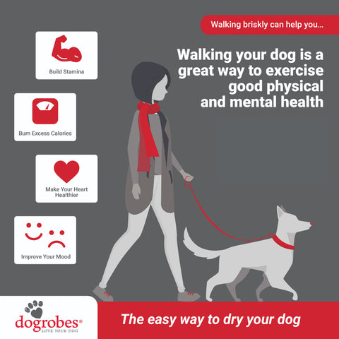 Walking your dog is good for you and your dog by Dogrobes