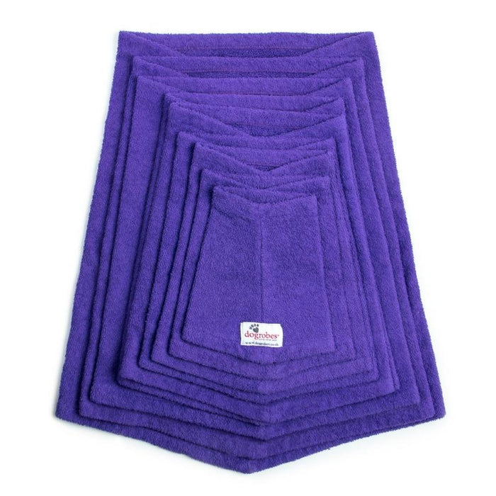 Stack Of Purple Snoods Mini To XXXL Size