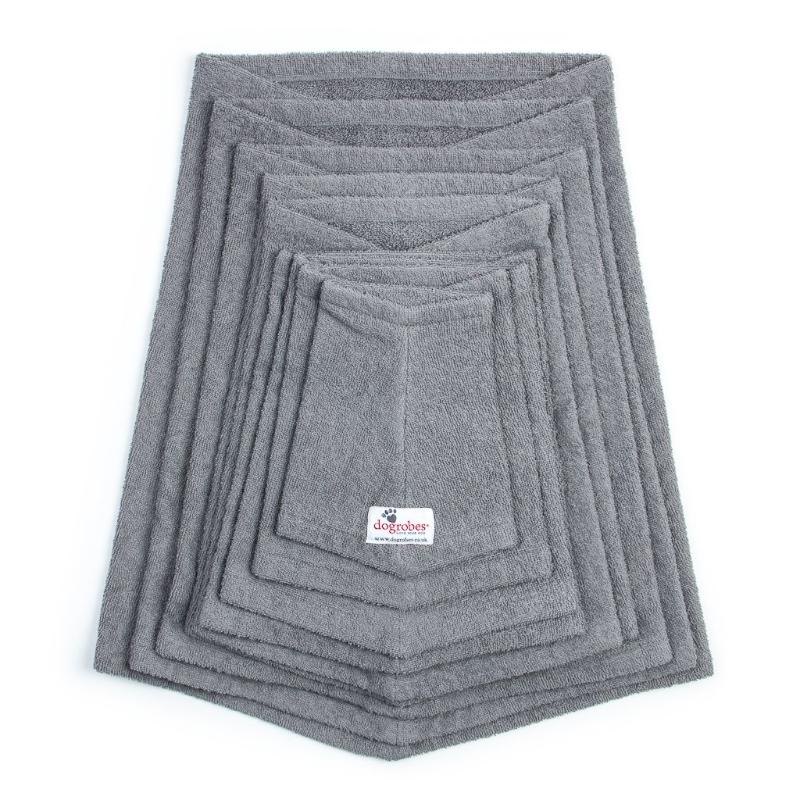 Stack Of Grey Snoods Mini To XXXL Size