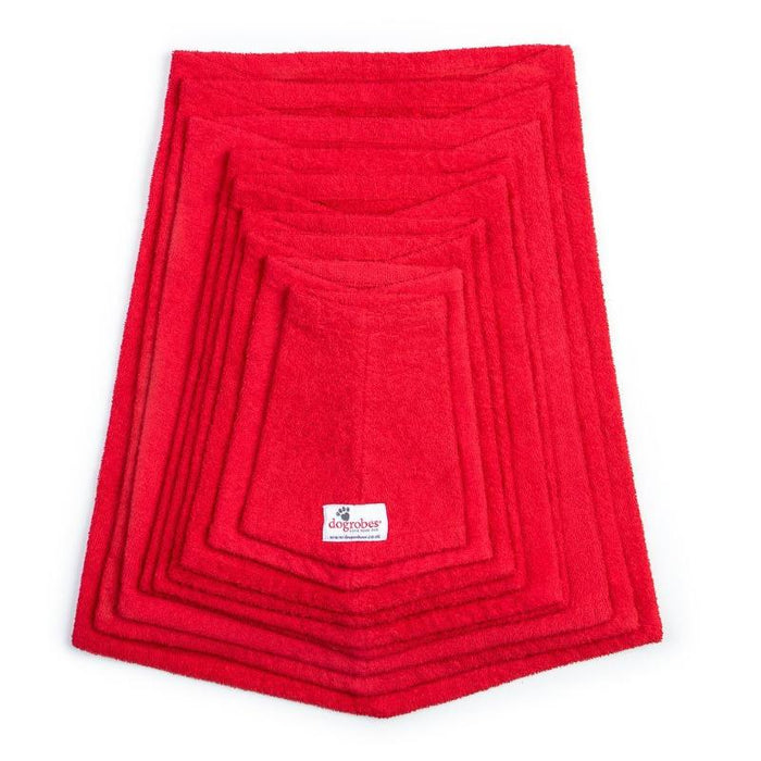 Stack Of Red Snoods Mini To XXXL Size