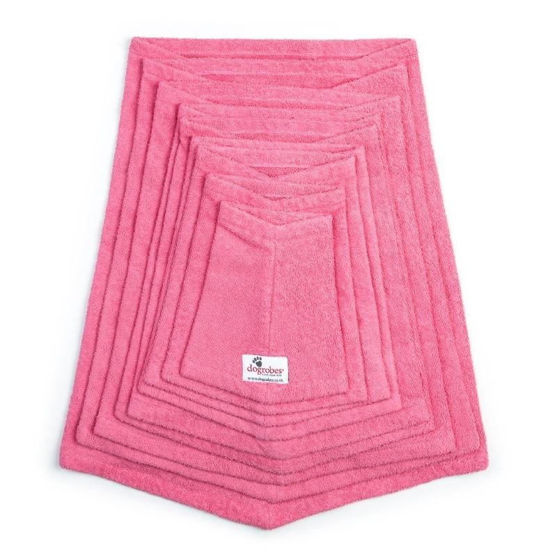Stack Of Pink Snoods Mini To XXXL Size