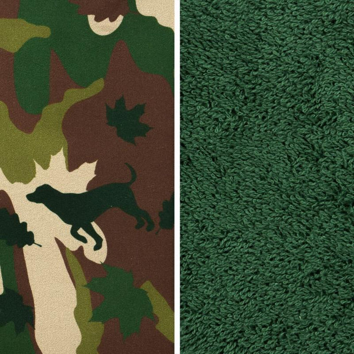 Camouflage fabric and Dogrobes exclusive fabric
