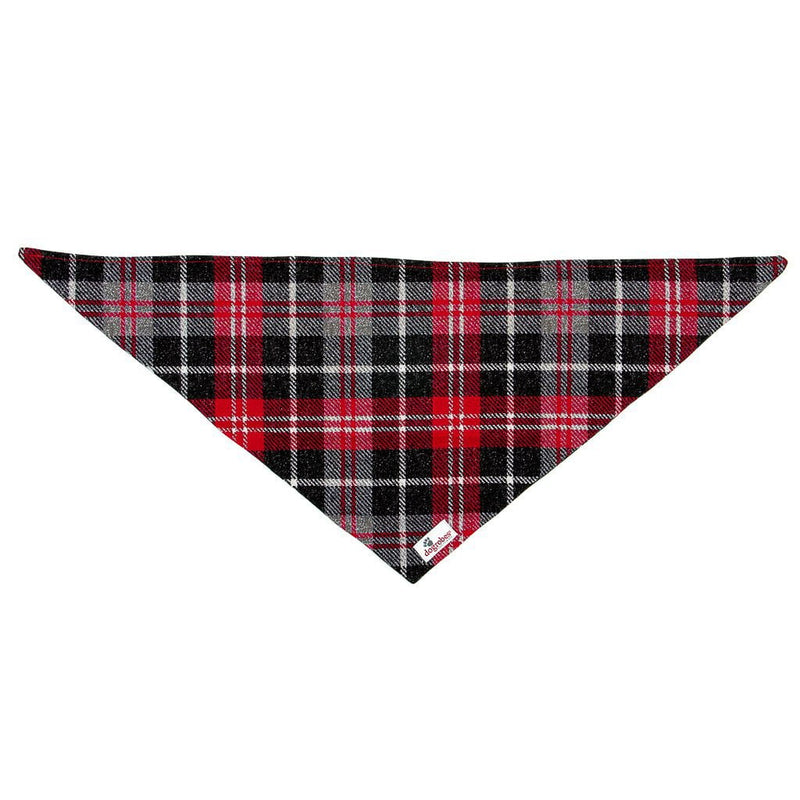 Front View Tartan Tie On Bandana