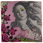 Queen and Roses Silk Scarf