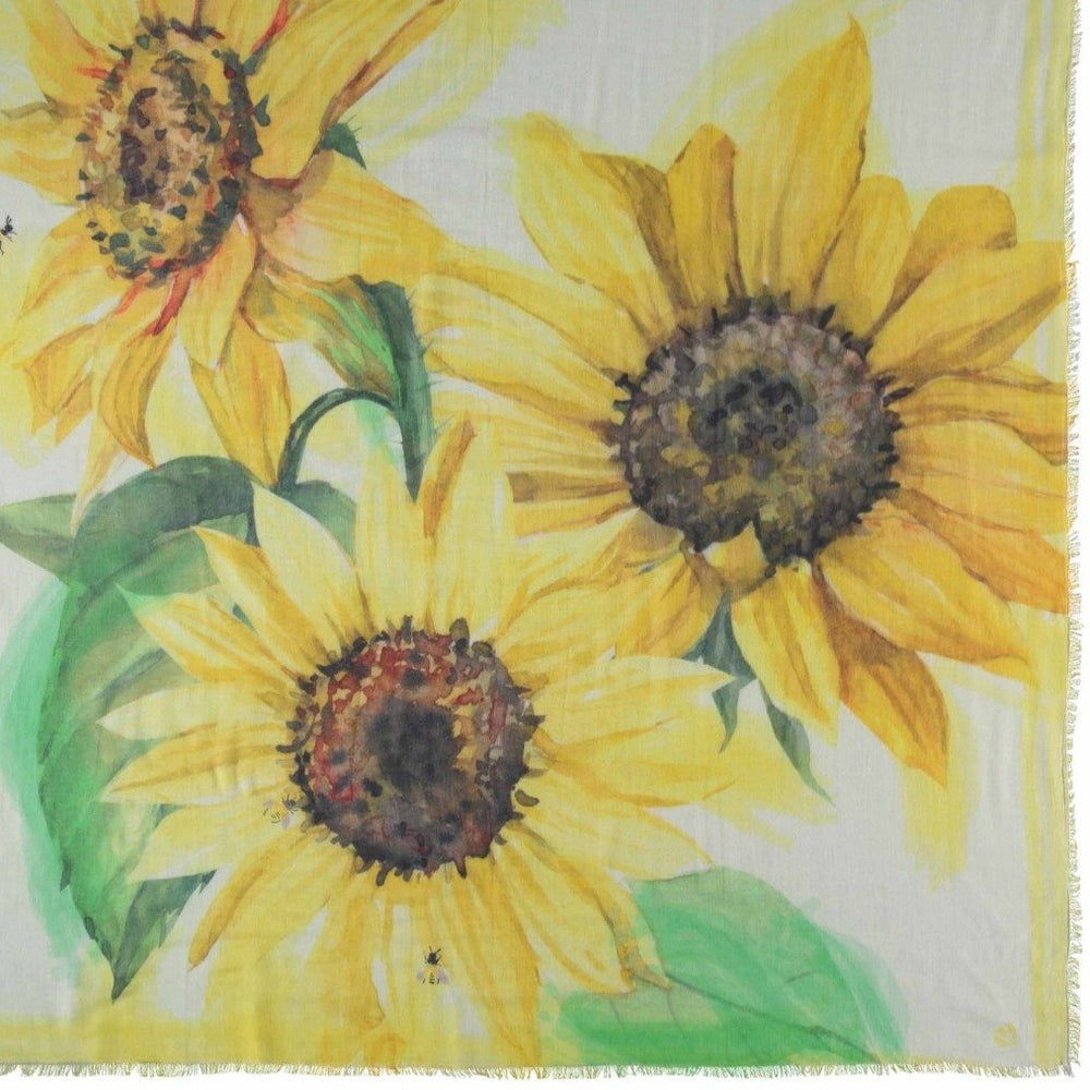 Load image into Gallery viewer, Think Sunflower Eco Scarf