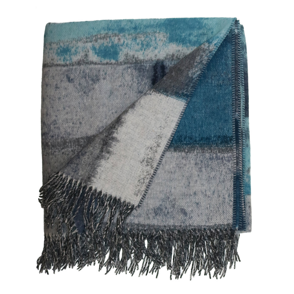 Abstract Stripe Cashmink Throw