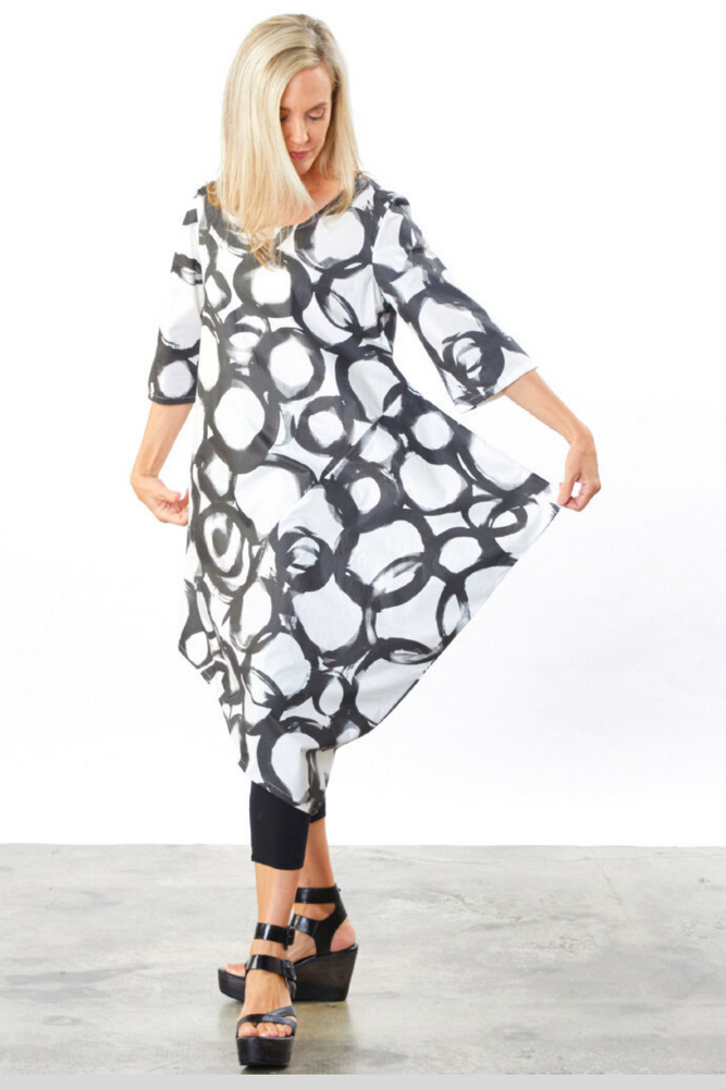 Naida Tunic in Anelli Cotton Print