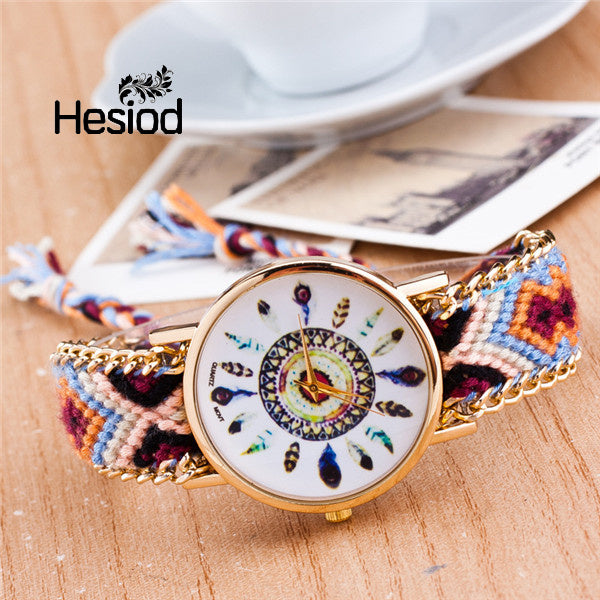 New arrival Handmade Braided Friendship Bracelet Watch Geneva
