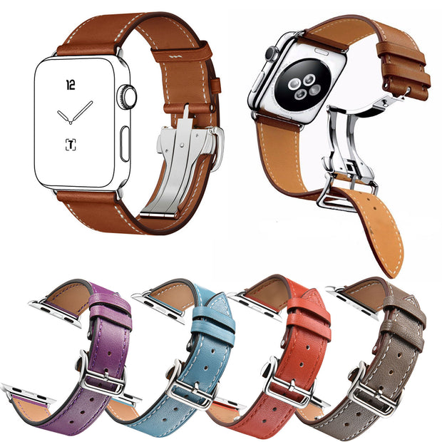 5 Colors Single Tour Genuine Leather Strap for Apple Watch Band