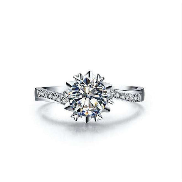 0.5 Carat  Lovely Design  Snow Flake SONA Synthetic Diamonds