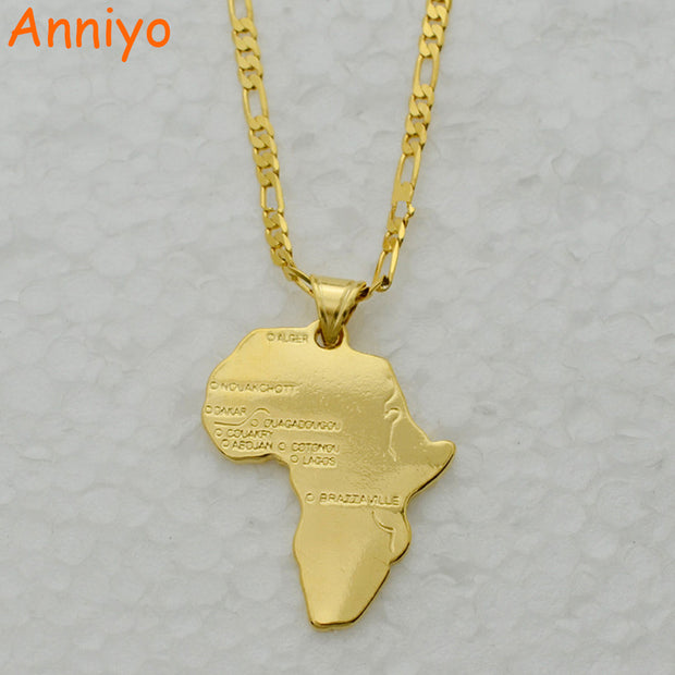 Anniyo 8 Style/Map of Africa Pendant Necklace Chain 45cm/60cm