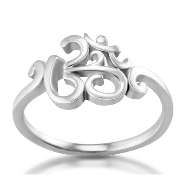 2017 New 925 silver OHM Hindu Buddhist AUM OM Ring Hinduism Yoga India