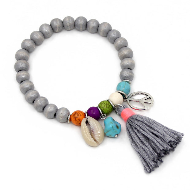 Women Jewelry Bohemian Friendship Bracelets Colorful Tassel Beads