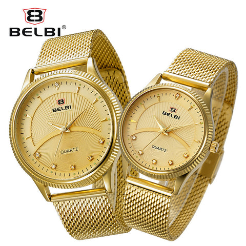 BELBI Couple Watches Diamond Watch for Men and Women Ultra-Thin