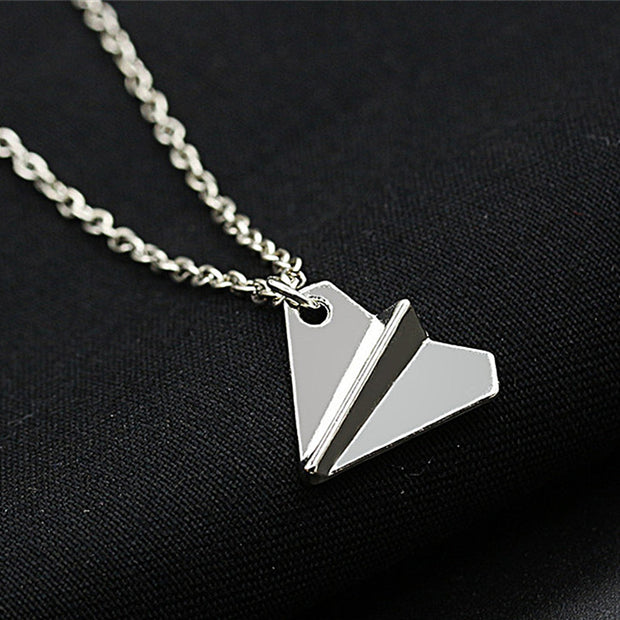 N2085 Minimalist Clavicle Necklaces Women Bijoux Paper Plane Tiny
