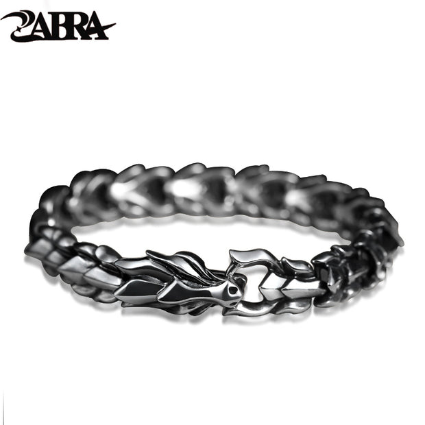 ZABRA 925 Sterling Silver Luxury Cool Dragon Bracelet for Men