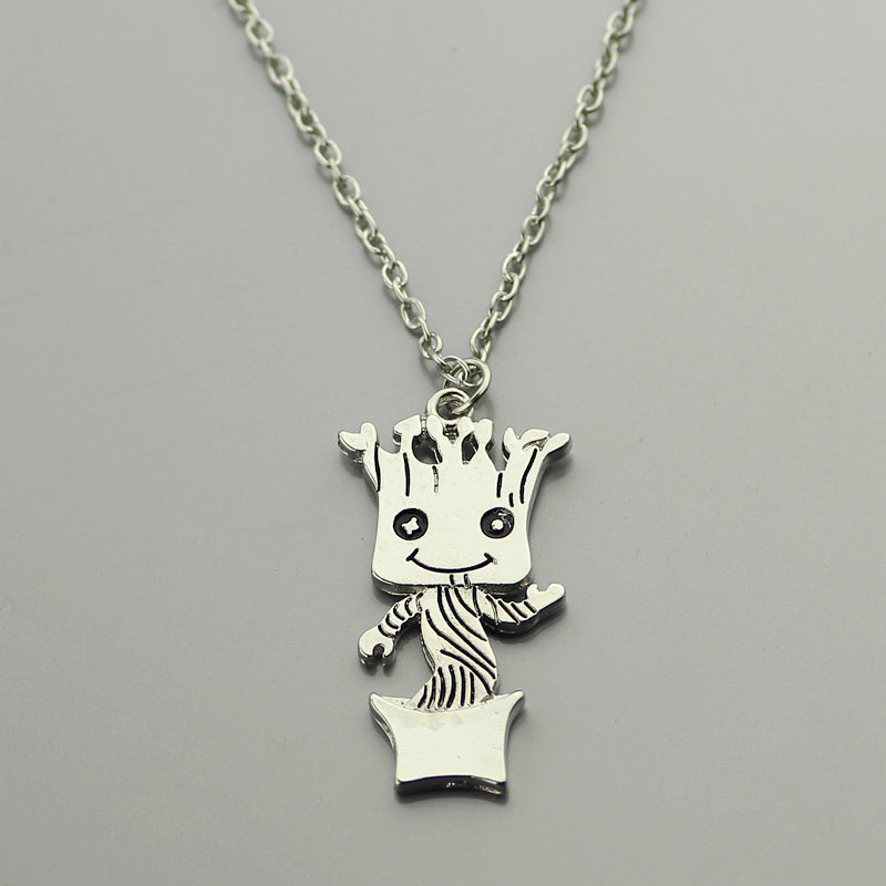 2017 Baby Groot Pendant,Guardians of the Galaxy Necklace,Baby Groot