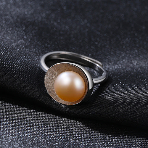PAG&MAG New Arrival Cameo Shell Shape Pink Pearl Rings For Women