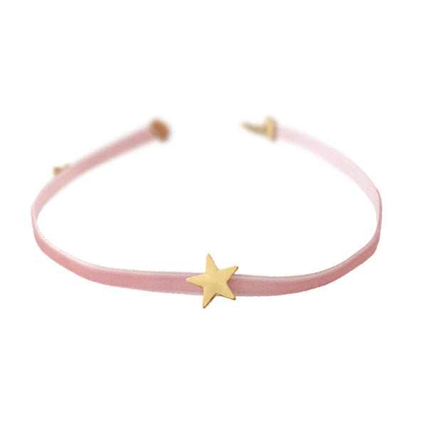 2017 Free shipping Japanese style simple pink velvet with short star