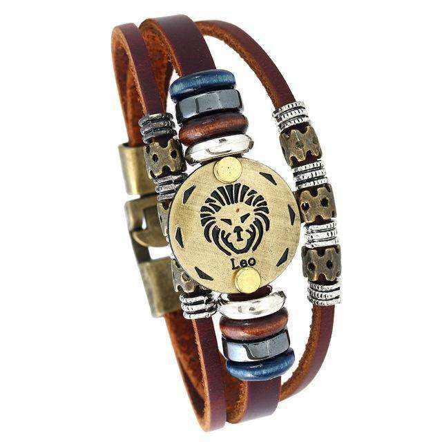 12 Constellation Bracelets Hot Fashion Jewelry 21cm Heroic Leo Lion