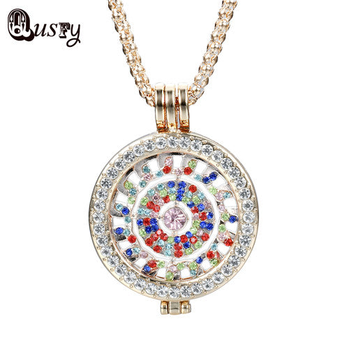 2017 Coin Pendants Necklace for Women Wholesale Bijoux My Coin Disc flower Crystals for Frame NA 7860996-gold-color for $14.99 USD  10-100, 10-50, Jordan's Jewlery, necklaces-and-pendants, new-arrivals, over-10