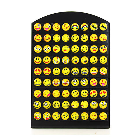 New Design 36 Pairs Emoji Funny Happy Face Stud Earring for Women
