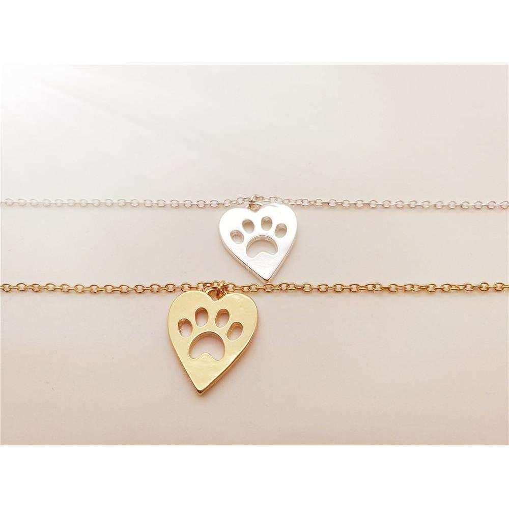 1PCS Cute Pet Heart Paw Bracelet Love Heart and Paw Bracelet