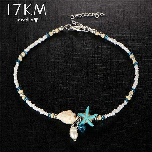 17KM Shell Anklet Beads Starfish Anklets For Women 2017 Fashion