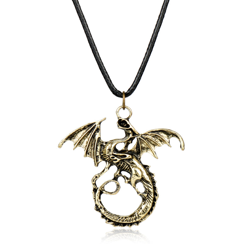 2017 Fashion Game Of Throne Dragon Pendant necklace Imination