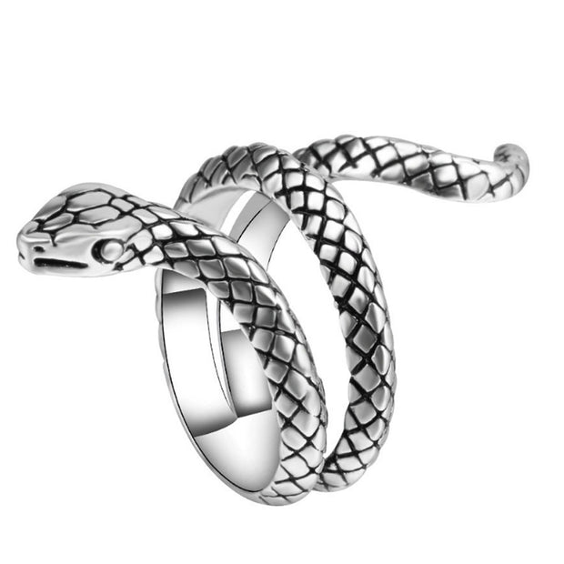 2017 New Fashion Wholesale Fashion Snake Rings For Women Silver