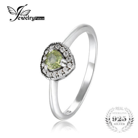 JewelryPalace Romantic 1.34 ct Natural Peridot Heart Engagement Ring Real 925 Sterling Silver Brand Retro Fine Jewelry For Women