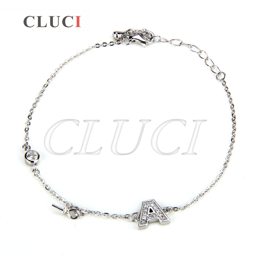 CLUCI women jewelry Letter A lobster clasp 925 sterling silver