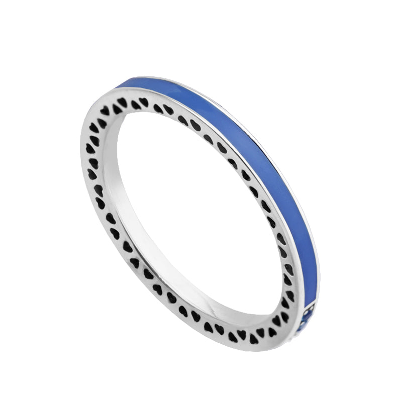 CKK 100% 925 Sterling-Silver-Jewelry Rings for Women DIY Making Blue