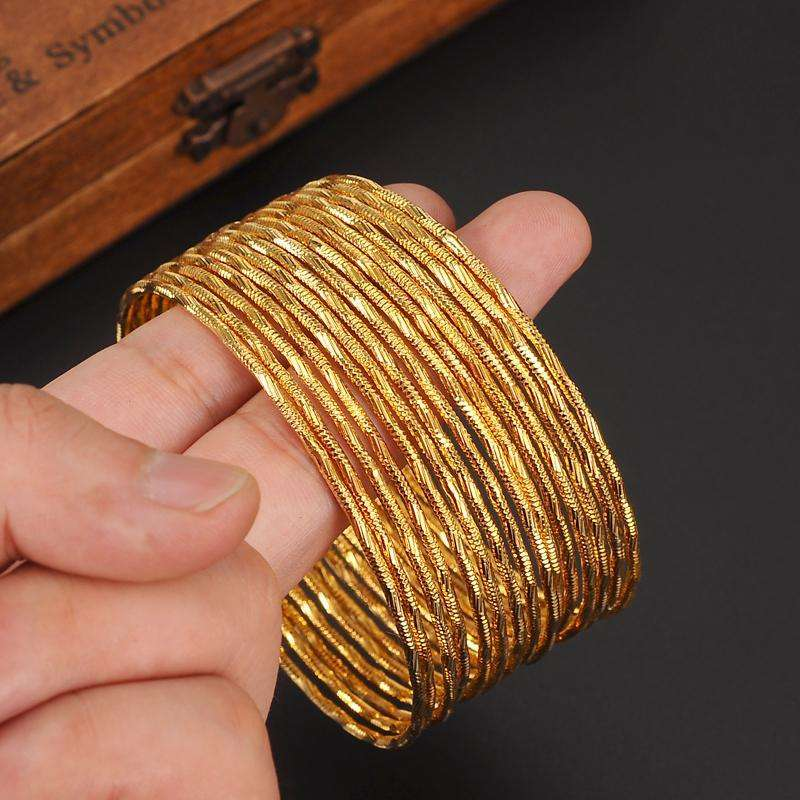 15 PCS big dubai gold bangle  Ethiopian bangle bracelet bangle African
