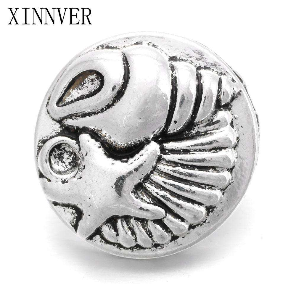 10Pcs/lot Xinnver Snap Metal Button for Women Bracelet Fit 18mm