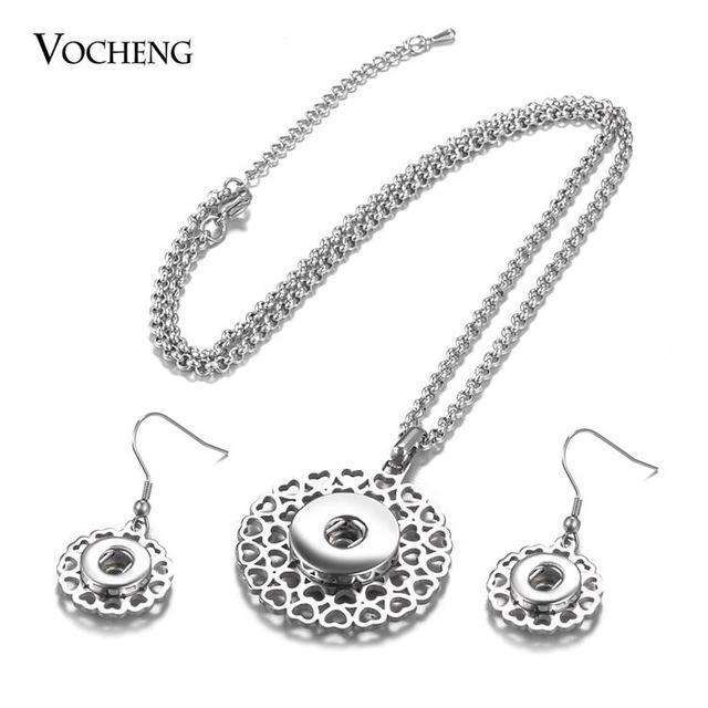 10pcs/lot Stainless Steel Ginger Snap Button Jewelry Set 18mm Pendants