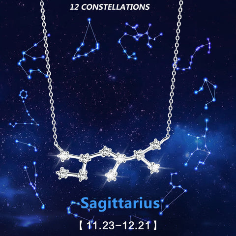Hot Fashion 12 Zodiac Signs Constellations 925 Sterlings Sliver