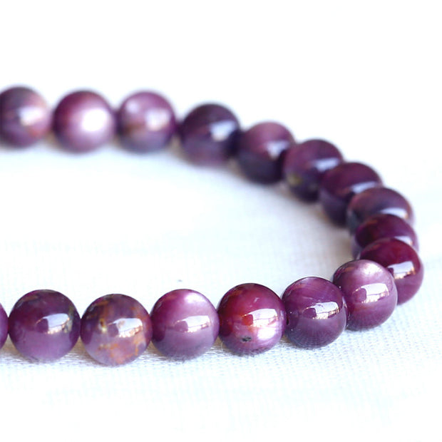 Wholesale Natural Genuine Red Africa Starlight Shine Ruby Bracelet