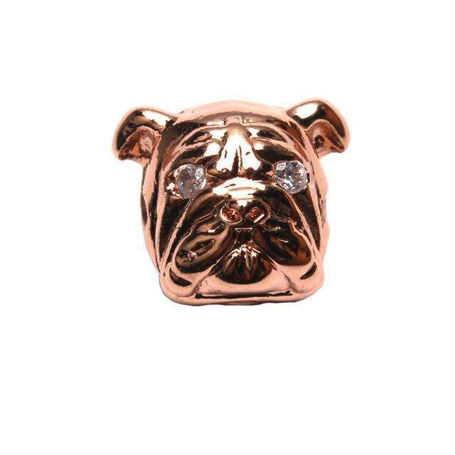 1pc 11*13mm Cute Pug Pet Dog Spacer Beads Copper Crystal Shar Pei