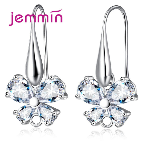 Jemmin Lovely Butterfly CZ Crystal Jewelry Hoop Earrings DIY Jewelry