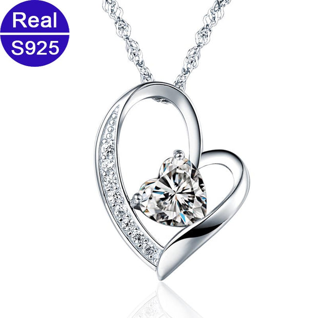 Red Trees Brand Fine Jewelry 925 Sterling Silver Heart Pendant