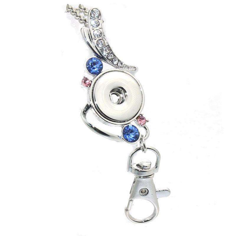18mm Snap Button Pendant 60CM Necklace Charms Fashion Rhinestones