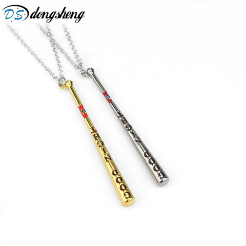 dongsheng Movie Suicide Squad Collar Baseball Bat Necklace&Pendant Harley Quinn Necklace Women Men Gift -30