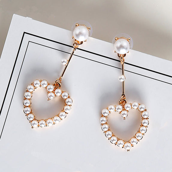 2017 All Match Elegant Earrings For Women Brinco Simulated Pearl
